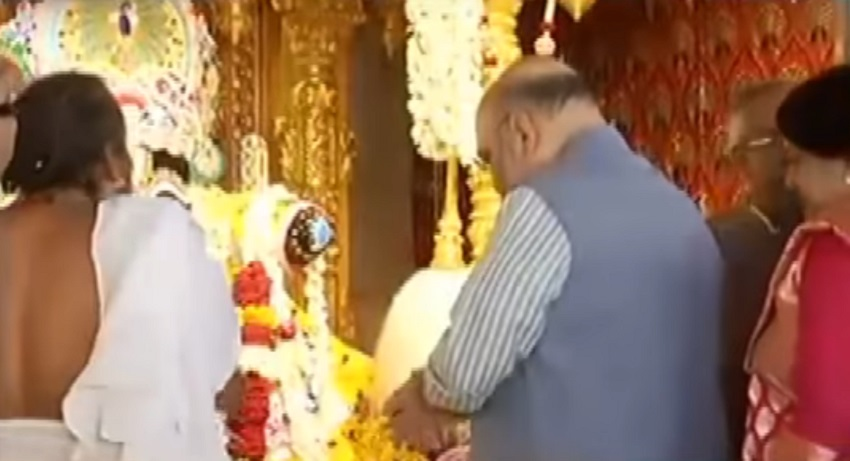 amit shah prays at jagannath temple