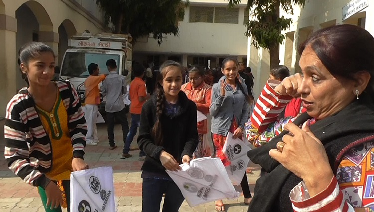 deaf and dumb children give kites ahmedabad