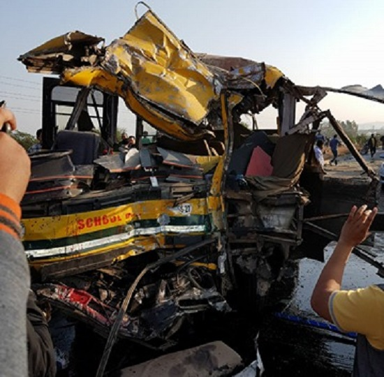 dps school bus accident indore 10 killed
