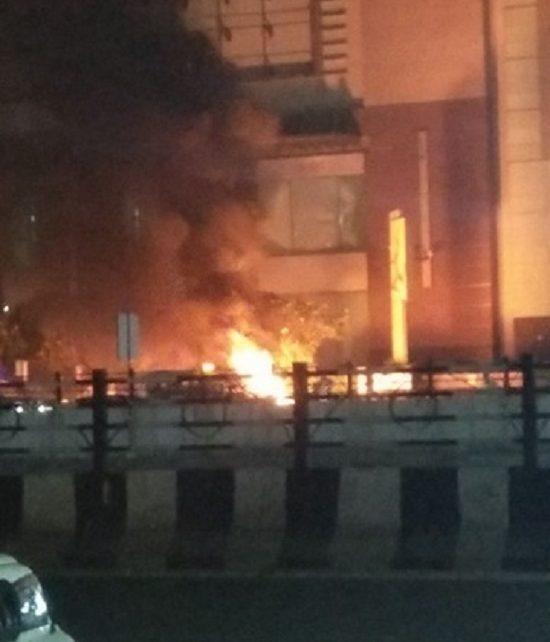 fire at pvr cinema against padmavaat film