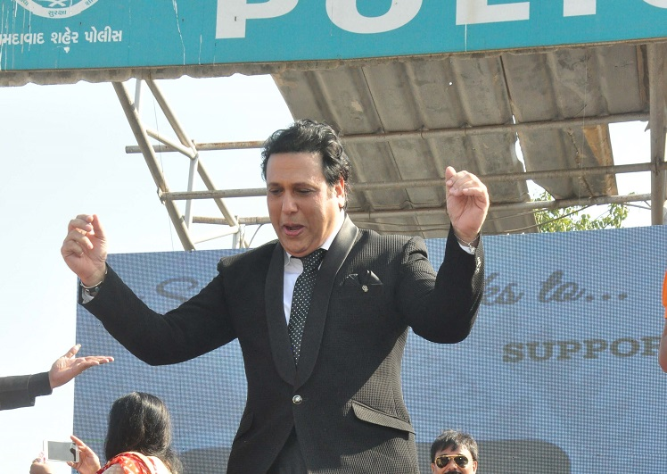 govinda in ahmedabad at police stadium