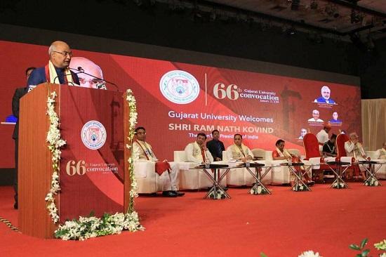 president address at 66thconvocation of gujarat university