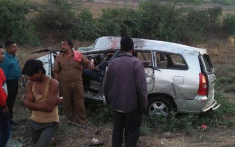surendranagar car accident kills 3 persons