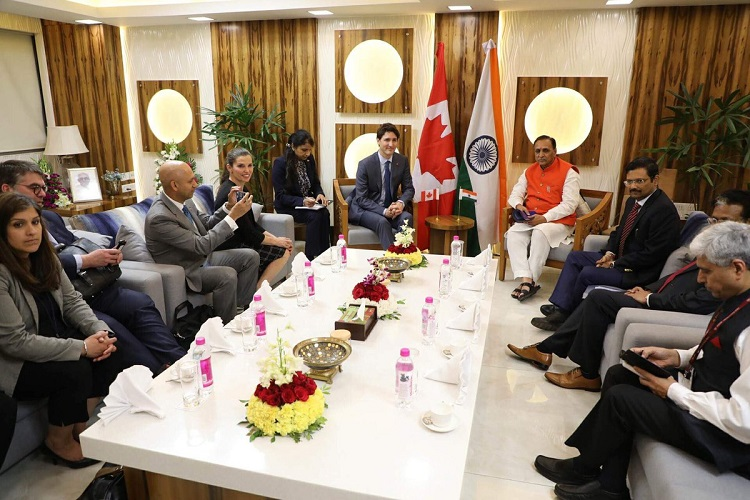 GUJARAT CM AND CANADA PM BUSINESS DELEGATION