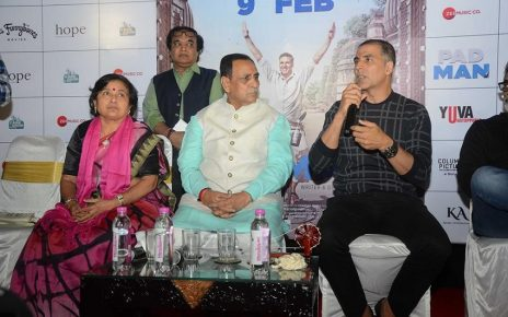akshay kumar for padman promotion in ahmedabad