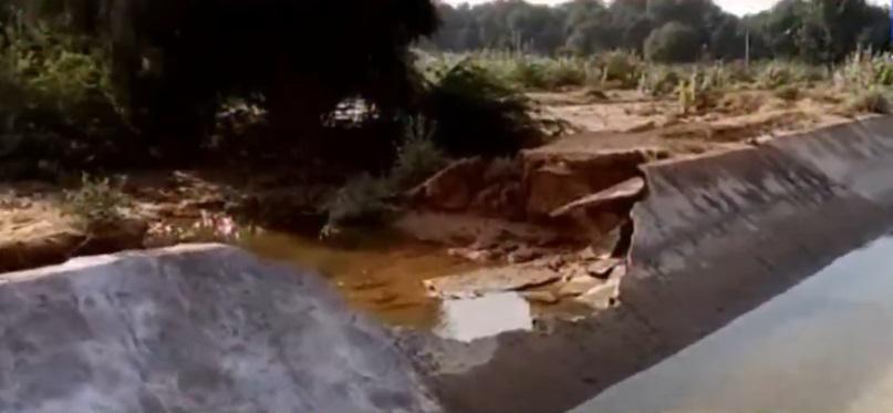 banaskantha vav narmada minor canal breach