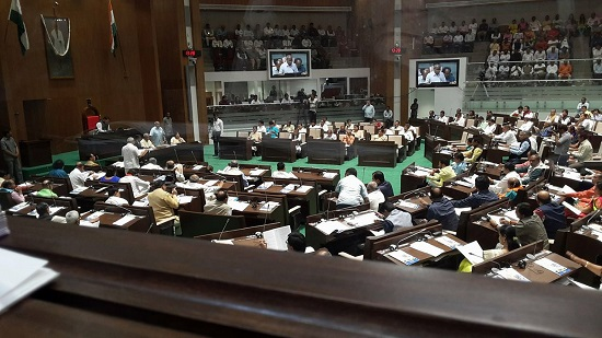 budget session inside view of gujarat assembly
