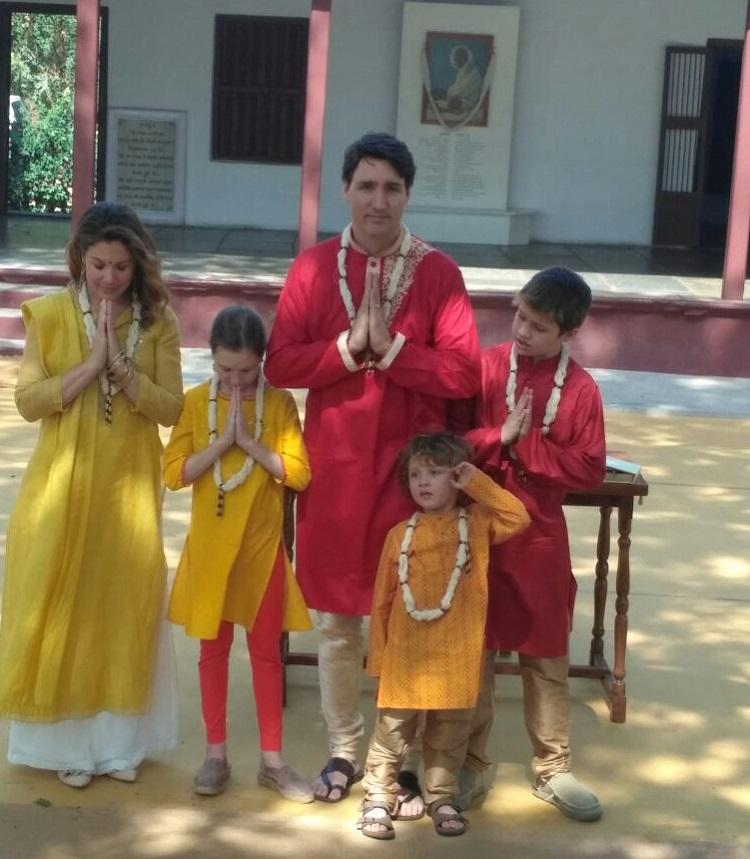 canada pm visit to sabarmati ashram