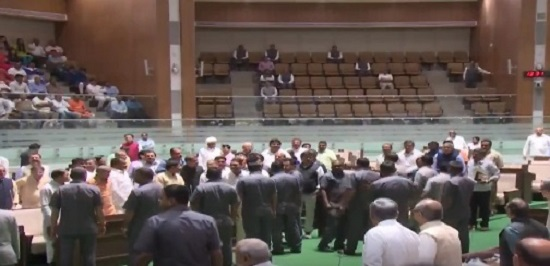gujarat assembly budget session inside the house
