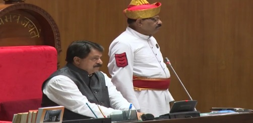 gujarat assembly speaker rajendra prasad at budget session