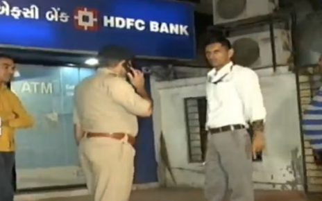hdfc atm cash of rs 98 lakhs looted by driver