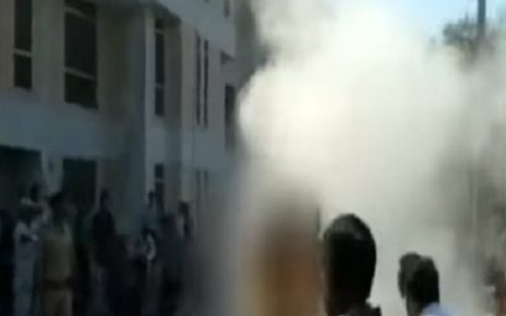 patan collector office 1 person attempt self immolation