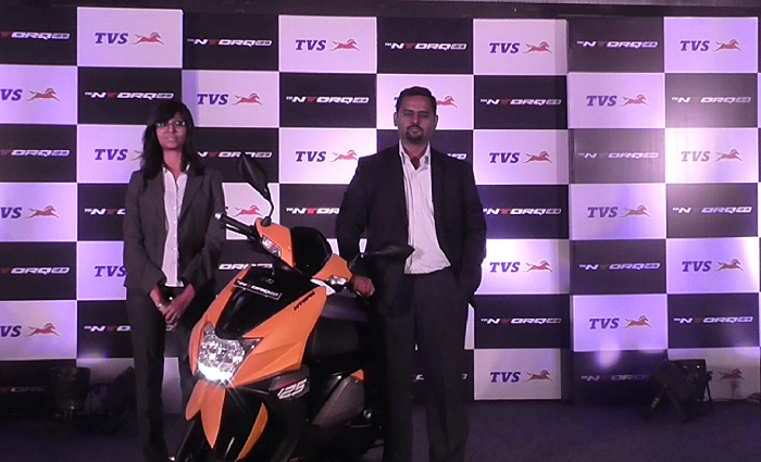 tvs ntroq125 cc scooter launched in ahmedabad