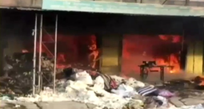 valsad fire in mattress godown