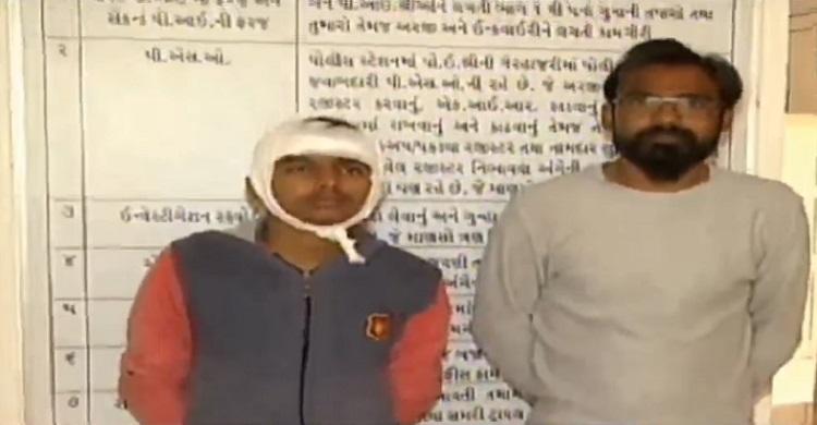 vastrapur police arrested 2 accused for hijacking son of marutinanadan hotel