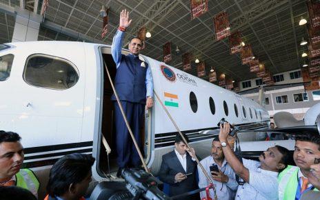 vijay rupani at launch to ahmedabad to mundra flight