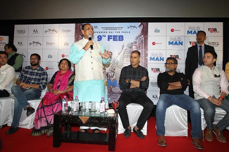 vijay rupani at padman promotion in ahmedabad