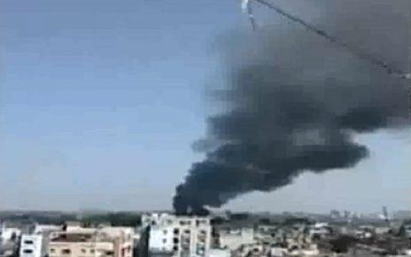 big fire in jute godown in shahpur ahmedabad