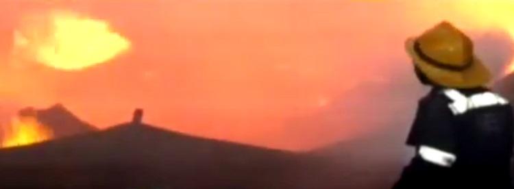 fire in narol cloth godown