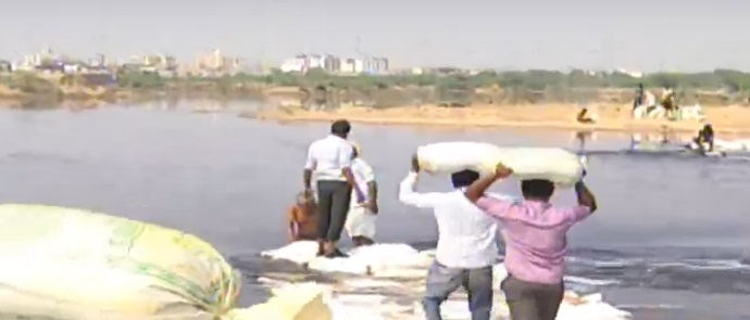 gujarat government officers on leave farmers risk their lives to save crops