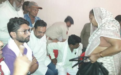 jignesh mewani MLA detained in dahod before protest