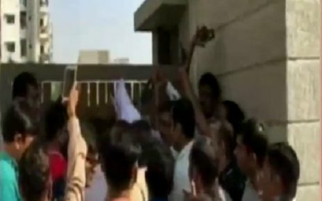 rp vasani school parents protest over school fee hike