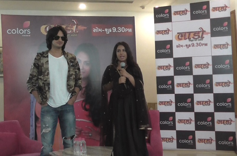 laado virpur ki mardani tv serial promotion in ahmedabad