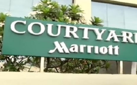 scandal of permitted liquor sold outside from marriot hotel in ahmedabad