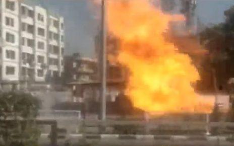 surat fire near brts bus stop