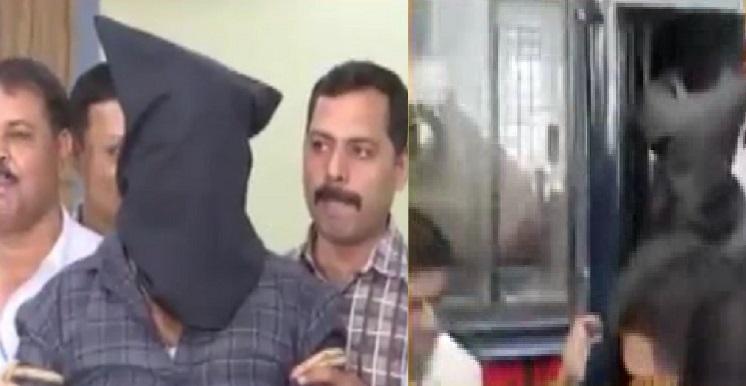surat rapist produced in court