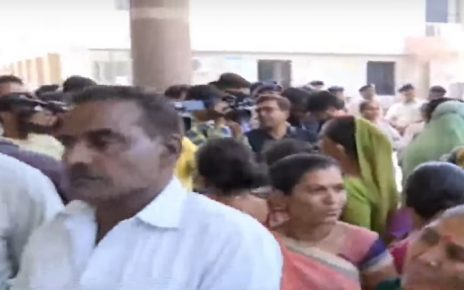 troubled rajkot residents approach civic office against problem of roads and water
