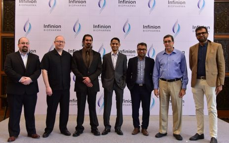 Infinion Biopharm press conference in ahmedabad