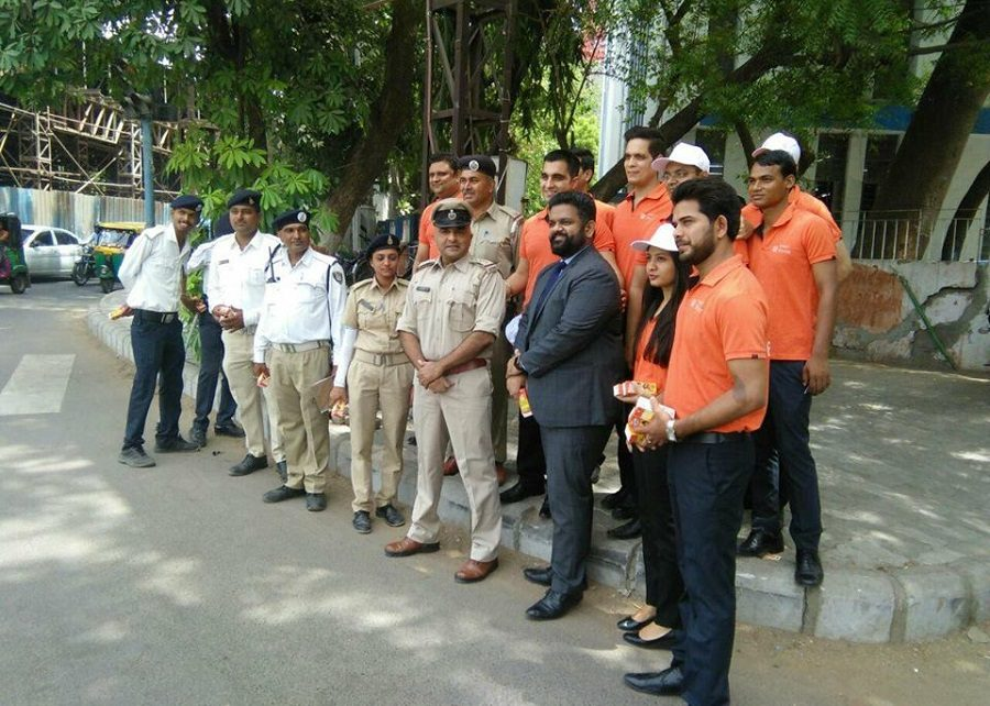 fresh refreshments to ahmedabad traffic police