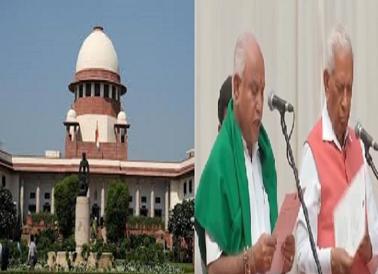 supreme court orders floor test by tomorrow 4 pm in karnataka