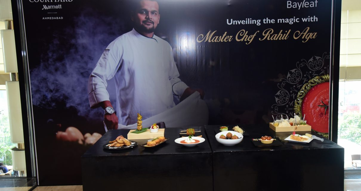 Chef Rahil Aga present menu in Ahmedabad