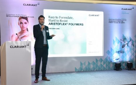 Clariant's personal care product display in ahmedabad