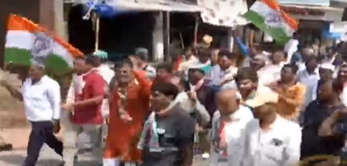 congress protest on government against farmer issue