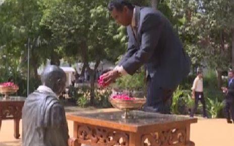 president of seychelles at gandhi ashram