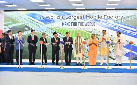 modi launch samsung india in noida