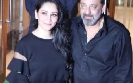 sanjay dutt birthday celebration with wife