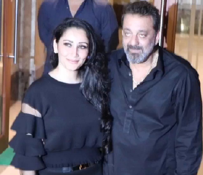 sanjay dutt birthday celebration with wife