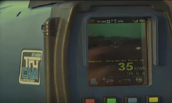 speed gun closeup