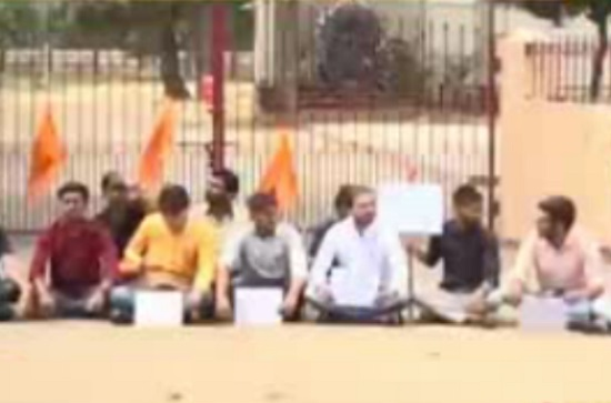 abvp protest at mount carmel school