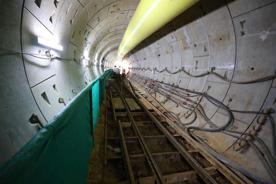 ahmedabad metro rail project underground work