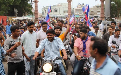 hardik patel rally in ahmedabad