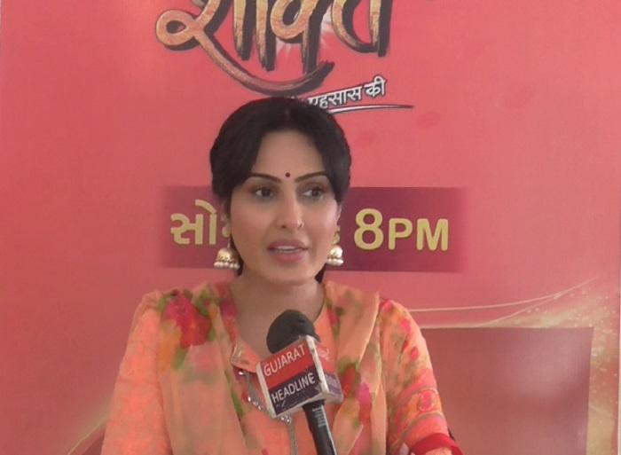 kamya punjabi promotes shakti tv serial in ahmedabad