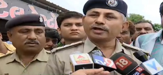 police at pedhla talks of congress protest
