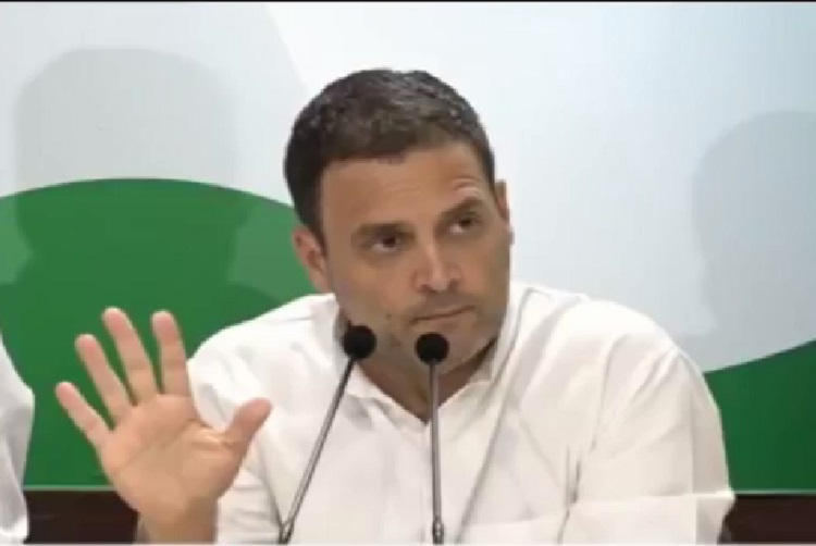 rahul gandhi criticise demonetisation by modi government