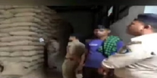 rajkot police at godown