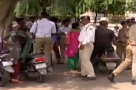 ahmedabad traffic poliec checks at government offices